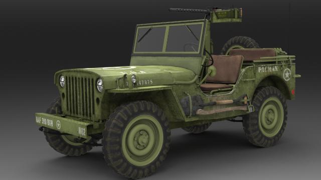 1943 Jeep Turntable